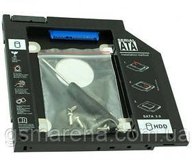 Карман для HDD 2.5 SATA 3.0 вместо DVD привода ноутбука 9.5mm Optibay