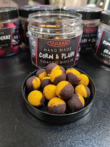Тонущие бойлы Vulkan Corn & Plum (Кукуруза-Слива) 16mm, фото 2
