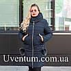 Зимові Пуховики жіночі великих розмірів 56,58,60 блакитний, фото 5