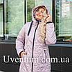 Женская демисезонная куртка большого размера   50-60 оливковый, фото 6