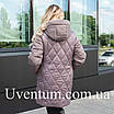 Женская демисезонная куртка большого размера   50-60 оливковый, фото 2