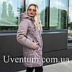 Женская демисезонная куртка большого размера   50-60 оливковый, фото 4
