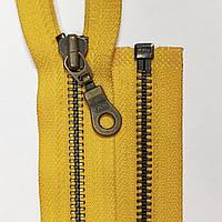 Металлические 5 разъемные молнии YKK 25-80 см с автоматическим фиксатором, разные цвета Желтый, 700