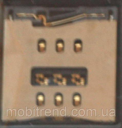 Коннектор SIM для Apple iPhone 5, iPhone 5C, iPhone 5S sim reader Оригинал
