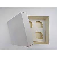 Коробка на 4 капкейка без вікна, 200*200*105
