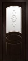 """Дверь межкомнатная остеклённый новый стиль Фортис """"Овал А """" 60-90 см каштан"""
