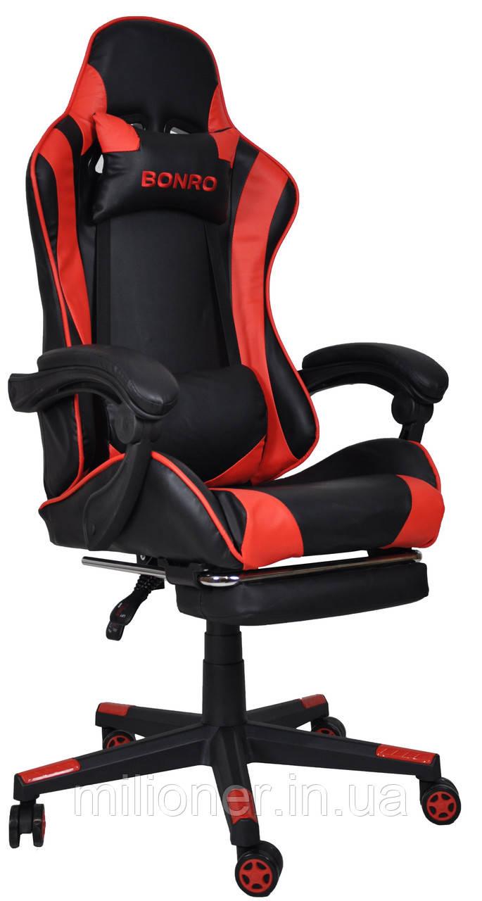 Кресло геймерское Bonro B-2013-1 красное