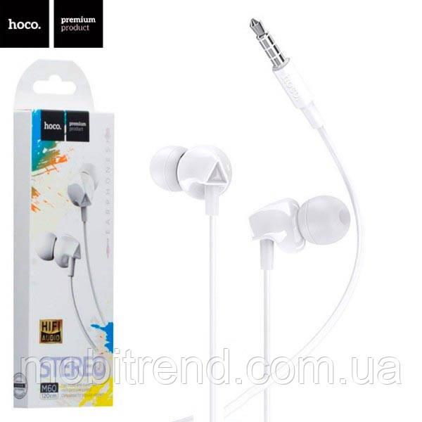 Наушники с микрофоном Hoco M60 Белый