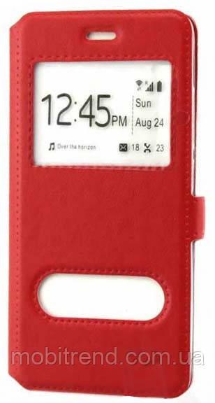 Чехол книжка ViP (2 окна) Meizu M5 Красный