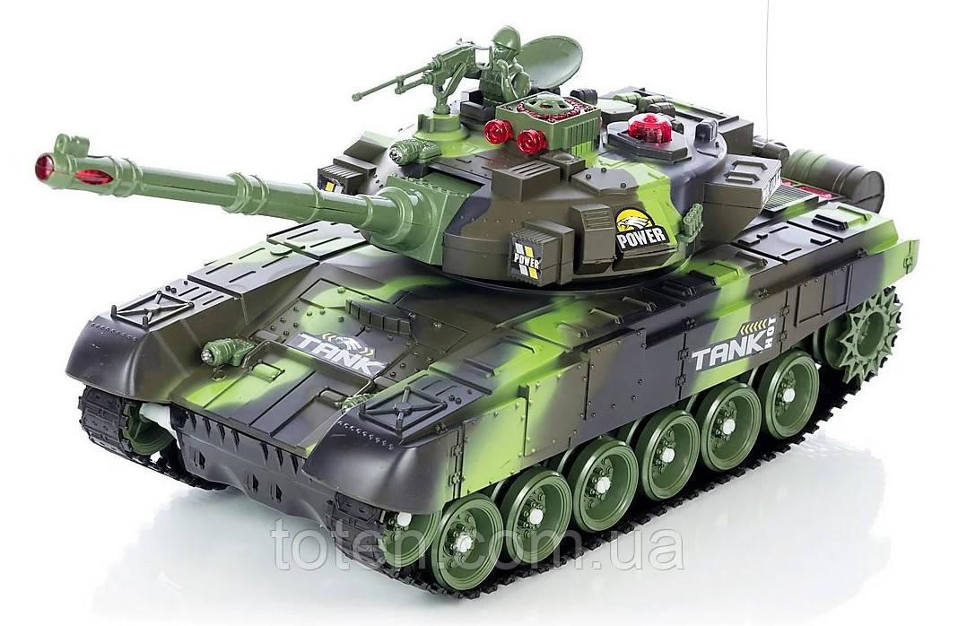 Боевой танк Зеленый Хаки на радиоуправлении. Можно собрать танковый бой! 9993 М 5523