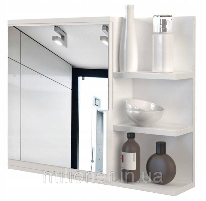 Шкаф с зеркалом для ванной LUMO PRAWE