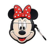 Чехол Disney series (+ карабин) к наушникам Apple AirPods (Минни Маус)