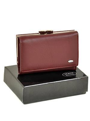 Женский кожаный кошелек портмоне W11 scarlet