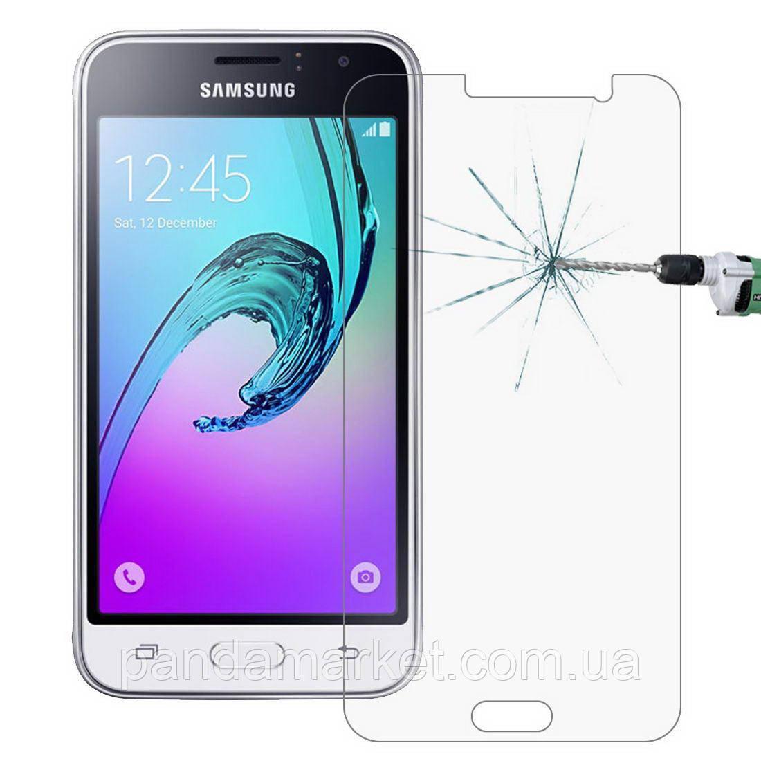 Защитное стекло 2.5D для Samsung J120 Galaxy J1 Duos (2016) (0.3mm, 2.5D, с олеофобным покрытием)