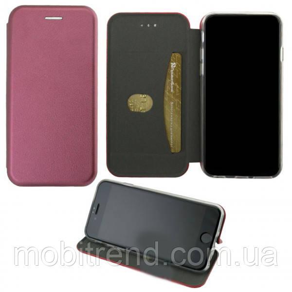 Чехол книжка Elite Case Samsung J4 Plus (2018) J415 бордовый