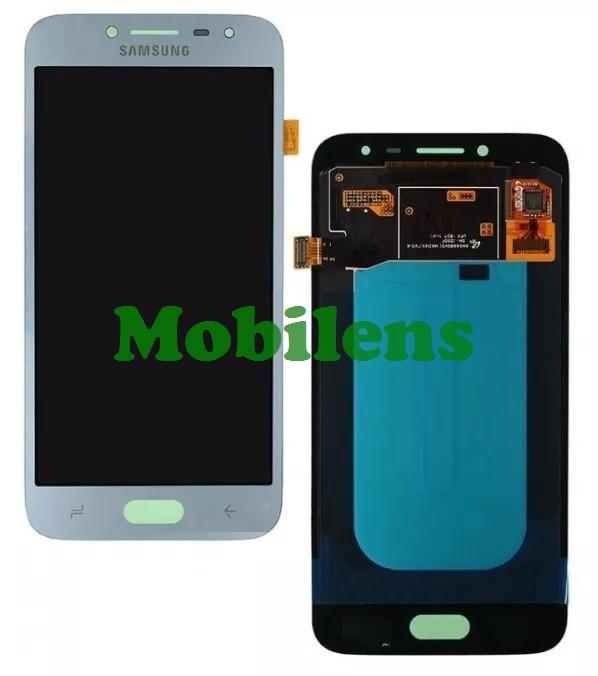 Samsung J250, J250F, Galaxy J2 (2018) Дисплей+тачскрин(модуль) серебристо-голубой High Copy (OLED)