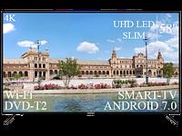 """Качественный Телевизор Liberton 58"""" Smart-TV/DVB-T2/USB Android 7.0 4К/UHD, фото 1"""