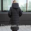 Женские куртки зима  больших размеров  56 черный, фото 3