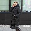 Женские куртки зима  больших размеров  56 черный, фото 2