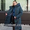 Женские куртки зима  больших размеров  56 черный, фото 5