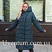 Женские куртки зима  больших размеров  56 черный, фото 6