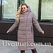 Женские куртки зима  больших размеров  56 черный, фото 7