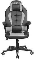 Кресло геймерское Bonro B-office 1 серое, фото 2