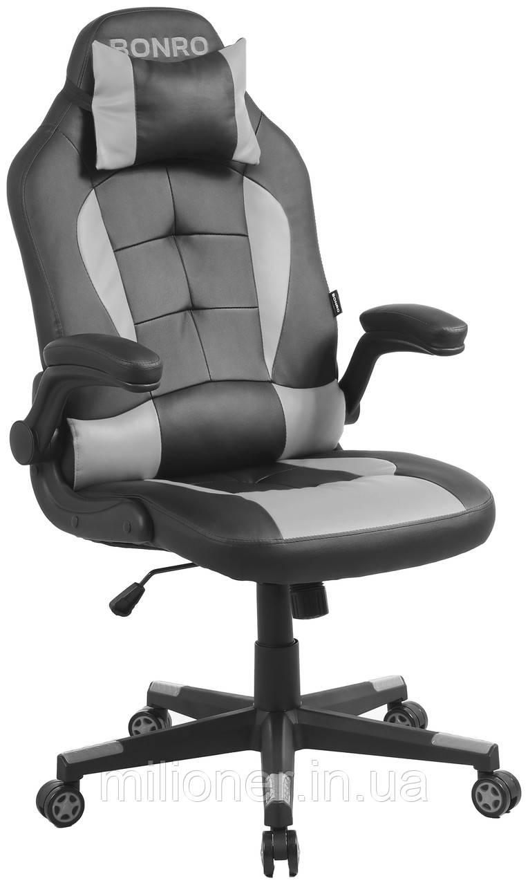 Кресло геймерское Bonro B-office 1 серое