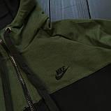 Мужской осенний спортивный костюм Nike (black/white), спортивный костюм Найк (Реплика ААА), фото 5