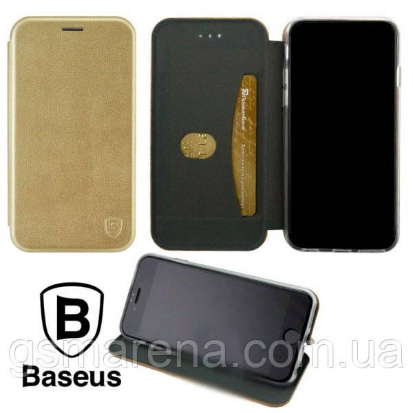Чехол книжка Baseus Premium Edge Huawei Mate 20 Pro Золотой