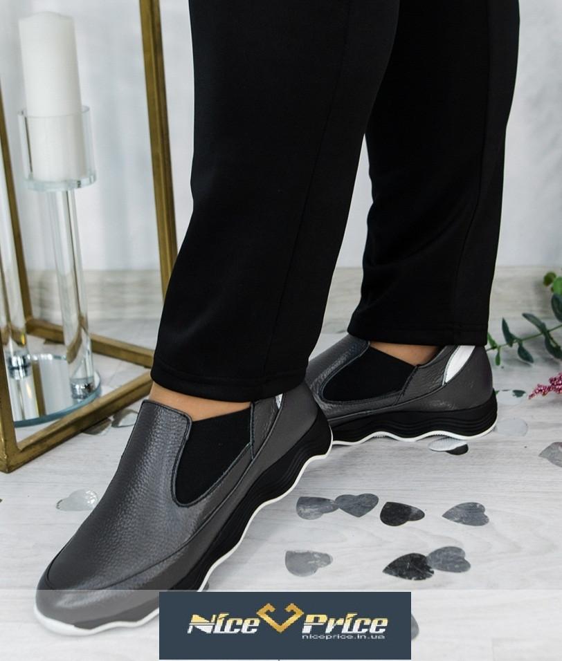 Сірі жіночі спортивні туфлі-кросівки 36-41р