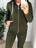 Женский спортивный костюм с капюшоном на флисе, фото 3