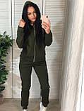 Женский спортивный костюм с капюшоном на флисе, фото 4