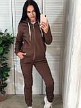 Женский спортивный костюм с капюшоном на флисе, фото 5