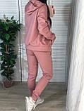 Женский спортивный костюм с капюшоном на флисе, фото 6