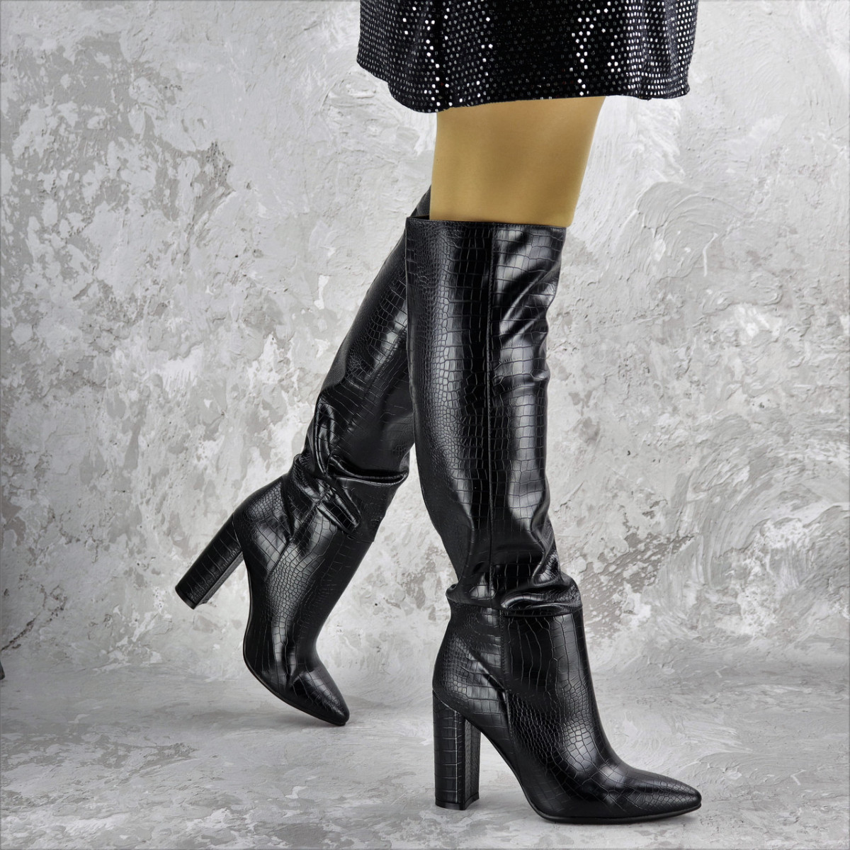 Сапоги женские черные Sarge 2185 (35 размер)