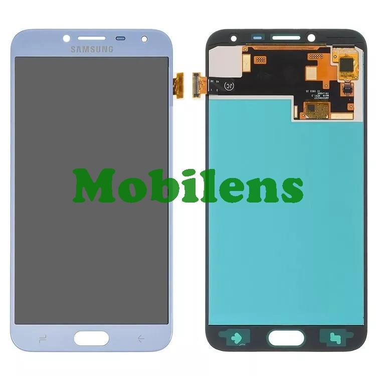 Samsung J400, J400F, Galaxy J4 (2018) Дисплей+тачскрин серебристо-голубой High Copy (OLED)