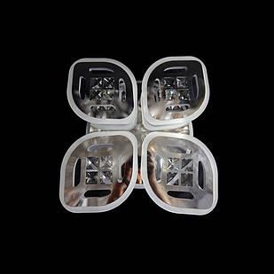 Светодиодная LED люстра СветМира 75 Вт с подсветкой и регулировкой яркости LS-7123/4 CH
