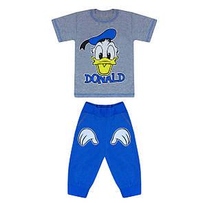 Комплект дитячий Дональд Дак футболка+бриджі кулір на хлопчика