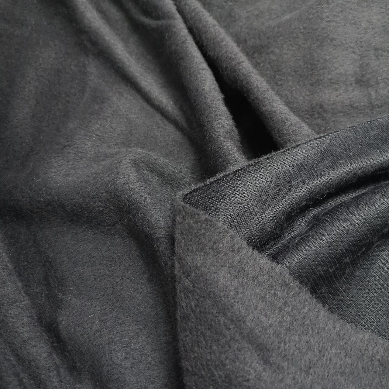 Пальтовая ткань ворсовая серая РАСПРОДАЖА