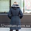 Зимние женские куртки больших размеров 50-60 темно-синий, фото 5