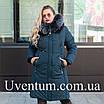 Зимние женские куртки больших размеров 50-60 темно-синий, фото 7