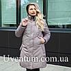 Удлиненная куртка женская демисезонная большого размера    50-62 пудра, фото 5