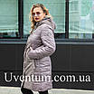 Удлиненная куртка женская демисезонная большого размера    50-62 пудра, фото 7