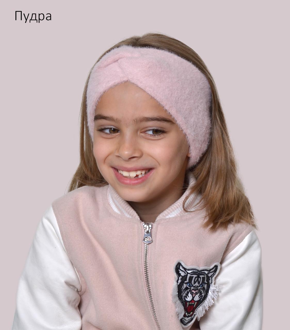 {есть:50-55 см} Детская пушистая повязка тюрбан , 52-56 см. Артикул:AR51 [50-55 см]