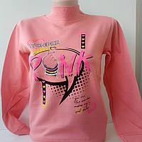 """Реглан-стійка """"Pink"""" для дівчаток. 2 нитки начіс 8-12 років"""