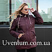 Подовжена куртка жіноча демісезонна великих розмірів 52,54,56 чайна троянда, фото 4