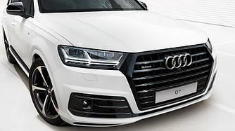 Решетка радиатора Audi Q7 4M (16-19) черный глянц