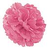 Декор бумажные Помпоны 35см розовый 0020