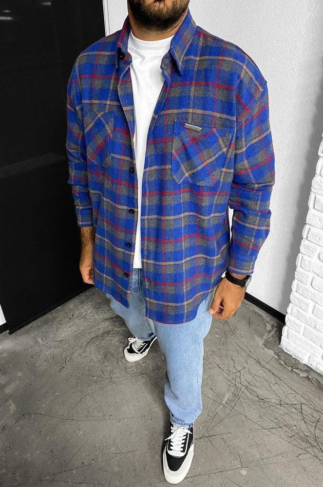 Чоловіча байкова сорочка Black Island 5720 blue